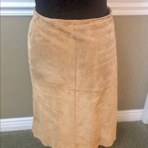 Chico's leather suede skirt